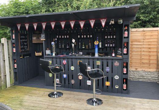 Направи си сам евтин бар в двора от стари палети