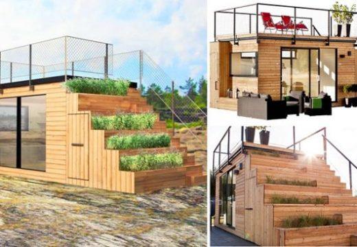 Идея за малка къщичка със зелени стъпала