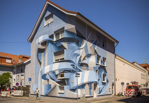3D графити преобразяват обикновени сгради (снимки)