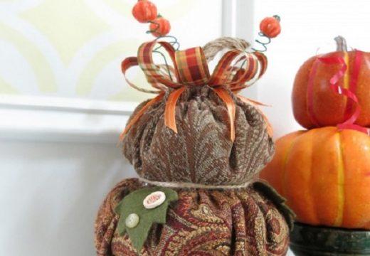 Как да си направим декоративна тиква от стар плат