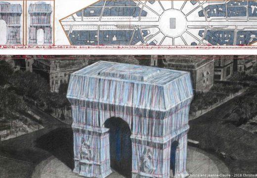Кристо опакова Триумфалната арка в Париж с 25 хил. кв.м. плат