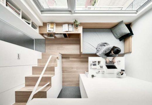 Малък апартамент разкрива чудесен потенциал за съхранение