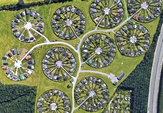 Градче в Дания е с формата на кръгове