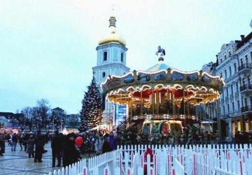 Киев построи 35 км коледен пазар
