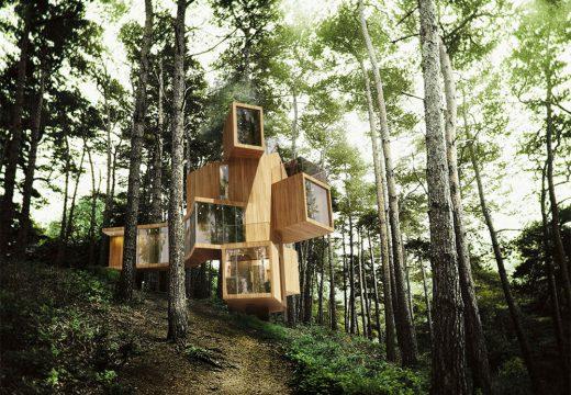 Къща на дървета в планината Чиюн