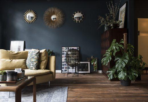 10 стаи с тъмна цветна схема