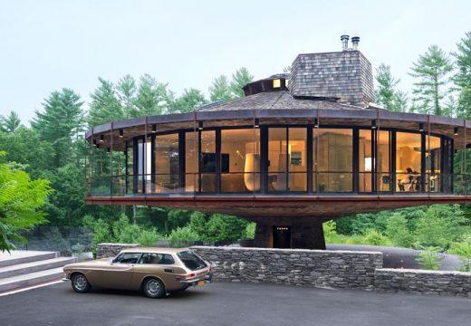 Кръглата, въртяща се къща на щата Кънектикът