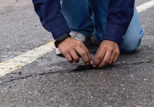 Пътна настилка от рециклирани гуми се самовъзстановява