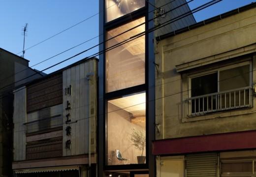 Японски дом, широк по-малко от 2 метра