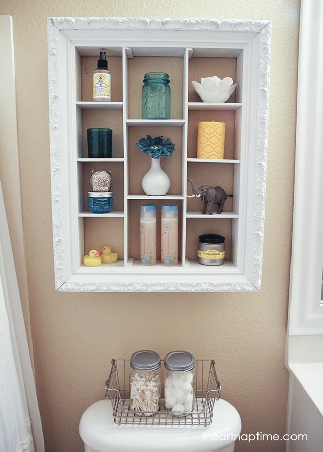 fabartdiy-DIY-Picture-Frame-Bathroom-Wall-Shelf