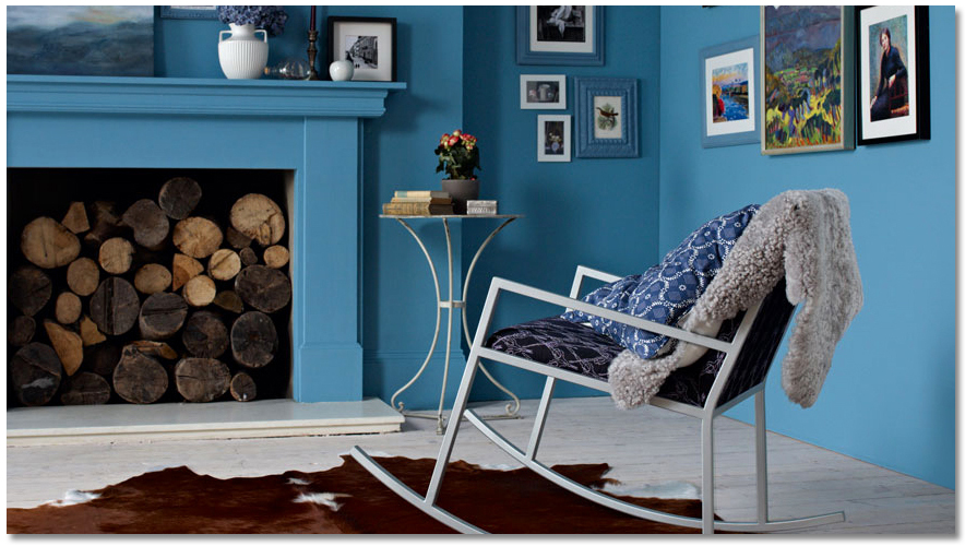 Glidden-Cool-Cobalt-Living-Room