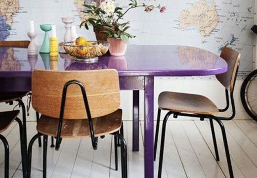 5 идеи за цветна кухненска маса