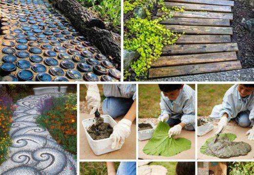 Креативни (и не скъпи) идеи за оформяне на пътеката в градината