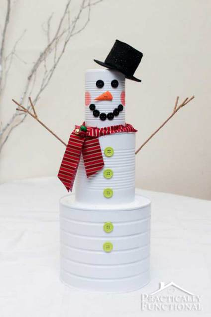soup-can-snowman-affordable-diy-christmas-decor-ideas