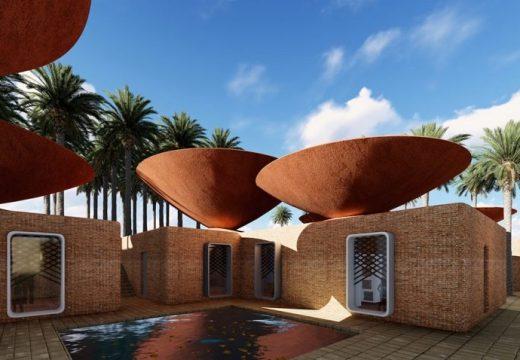 Купа на покрива събира дъждовната вода