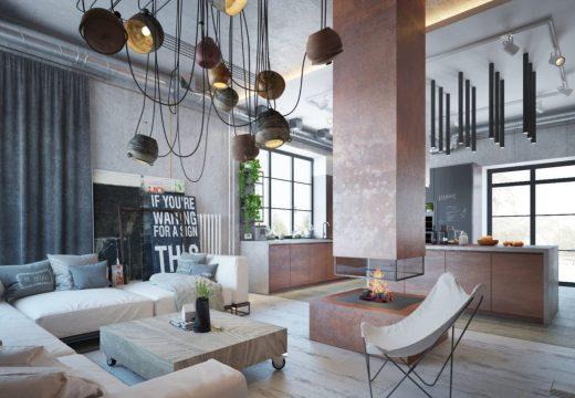 Апартамент в индъстриал стил разби стереотипа за дизайн