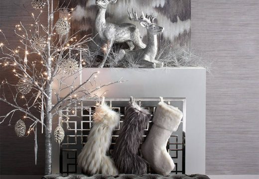 Свежа и стилна Коледа в цвят металик :)