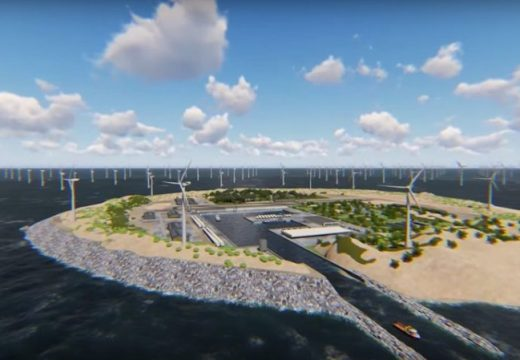 Изкуствени острови с вятърни турбини дават ток на Европа (видео)