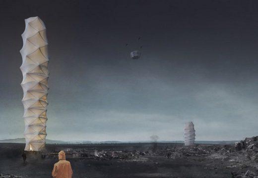 Сгъваем небостъргач дава подслон при природни бедствия
