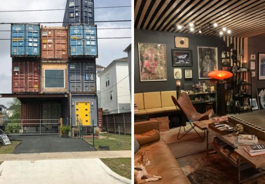 Невероятна триетажна къща сътворена от метални контейнери