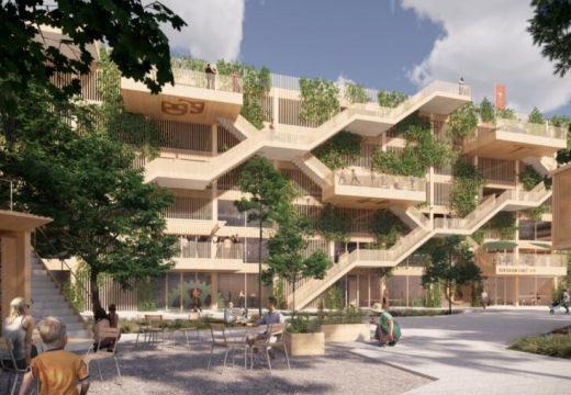 Паркинг от дърво в Дания ще бъде обгърнат в зеленина