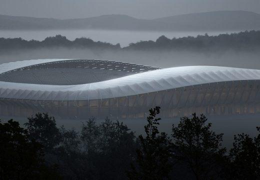 Zaha Hadid правят първият в света изцяло дървен стадион