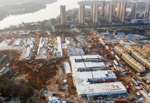 Китай построи цяла болница за няколко дни
