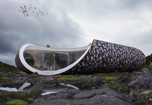 Футуристична вила е вдъхновена от формата на раковина