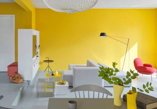 Жълт интериор освежава апартамент в Пекин