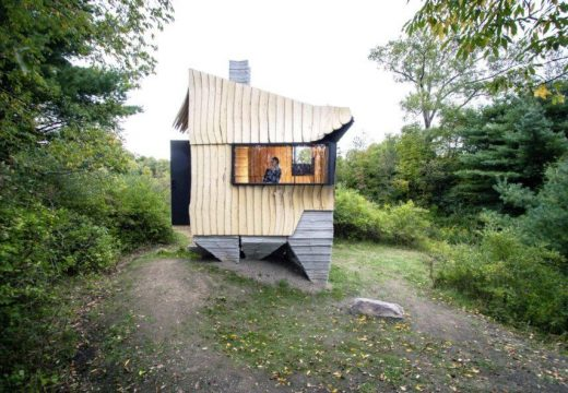 Архитекти превръщат отпадъчната дървесина в 3D колиба в Ню Йорк
