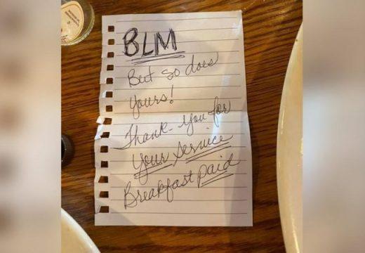 Американски полицай остана трогнат анонимен акт на доброта на две тъмнокожи дами