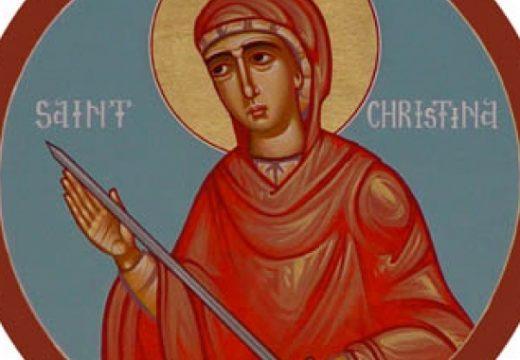 Църквата почита света великомъченица Христина