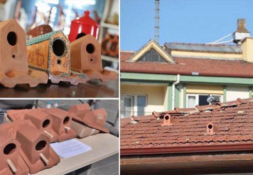 Фабрика произвежда керемиди, които служат за убежище за птици