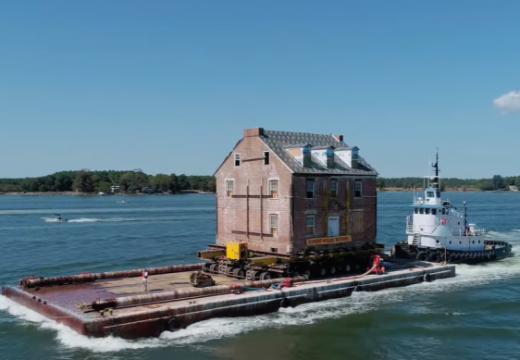 Да преместиш къщата си по вода? (видео)