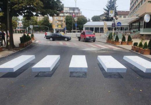Първата 3D пешеходна пътека е изградена в Перник