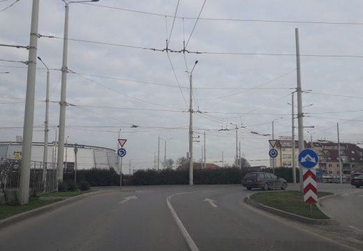 Кръговото кръстовище в Русе пропадна. Затварят за ремонт при първа възможност