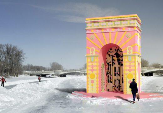 Ярко розова арка и гигантска раковина ще бъдат зимни спирки в Торонто