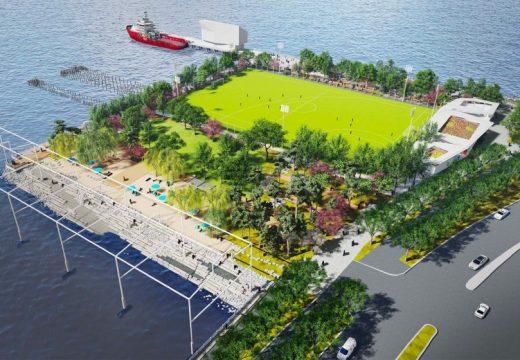 Мечтаем си за Манхатън и новия му плаж: Gansevoort Peninsula Park